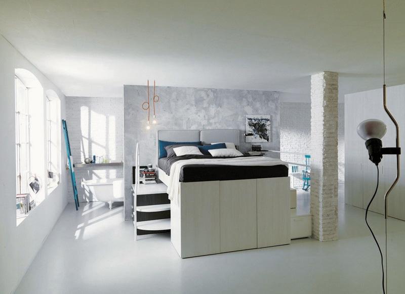 Кровать-гардероб выше стандартной кровати, но не требует дополнительной высоты потолка.
