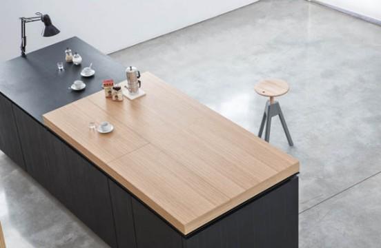 Кухня Paperwood. Кухня изготовлена из композитного материала из переработанной бумаги и полимерных смол.