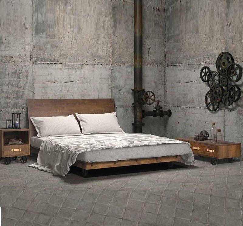 Промышленное помещение было превращено в уникальную спальню [Дизайн: Zin Home]