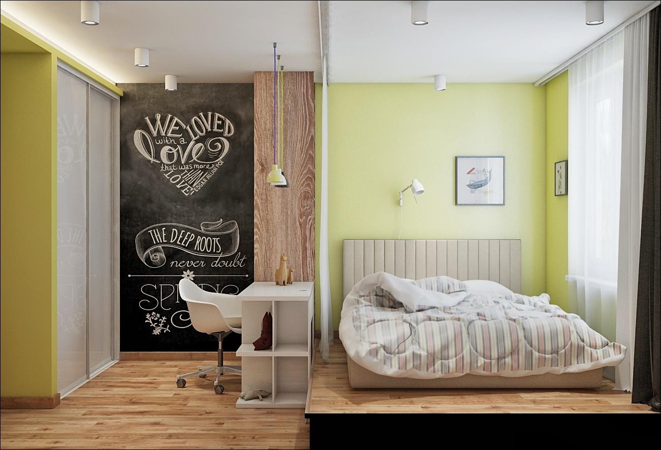 Часто в спальне можно встретить и домашний офис, чтоб можно было уединиться и поработать.