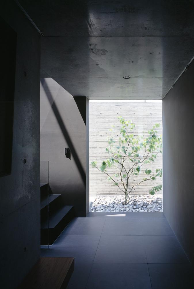 Открытое пространство в цокольном этаже.